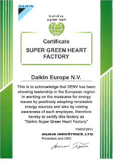 Certificate Super Green Heart Factory